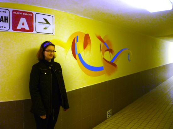 výzdoba stěn v Rehabilitačním ústavu Kladruby