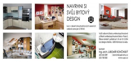 Kurz Design interiéru bytu - pozvánka 2014