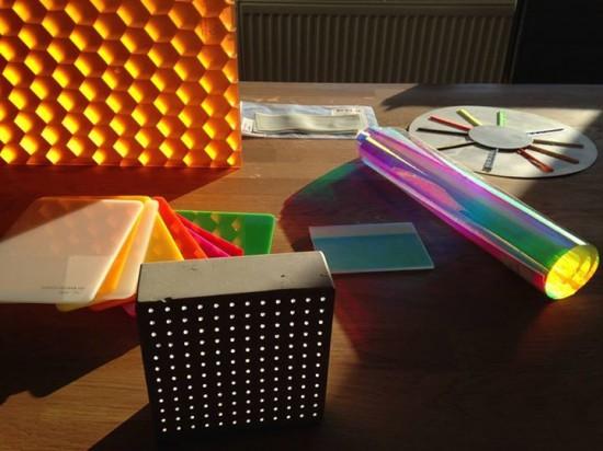 Materio vzorky světlo