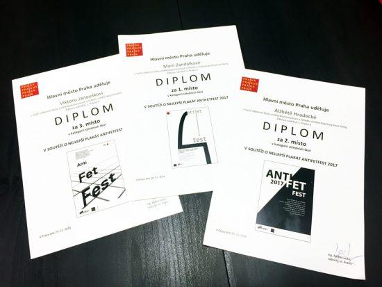 výherní plakáty ANTIFETFEST