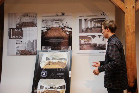 Vernisáž prezentace projektů studentů oddělení interiérové tvorby VOŠ pro Divadlo Na zábradlí